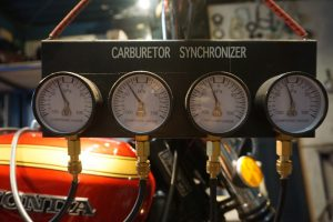CB750FOUR キャブ調整とポイント調整