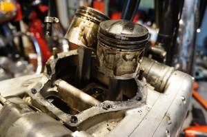 BSA A10 エンジンオーバーホール