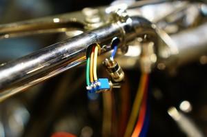 ロイヤルエンフィールド チョッパー製作8 ハーネスを作る