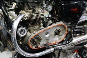 やっと一段落、カワサキW1の車検完了 オイル漏れ修理